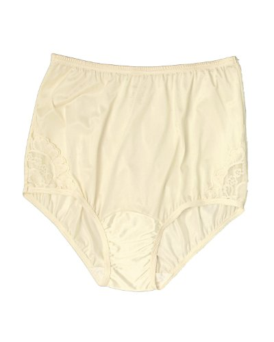 Vanity Fair Women's Perfectly Yours Lace Brief, Ivory, 8, ()