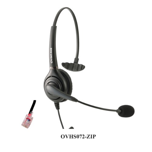 Ovislink Call Center Headset Compatible with Zultys IP Ph...