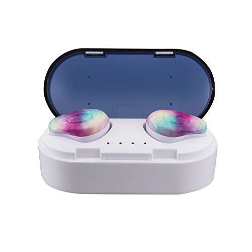 True Wireless Earbuds Bluetooth, 5.0 Mini Stereo Earphone HiFi in-Ear Headset Waterproof Sport Headphones]()