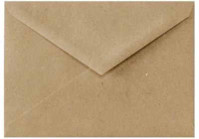 5 1/2 BAR Envelopes (4 3/8 x 5 3/4) - 100% Recycled - Grocery Bag Brown (50 (5.5 Bar Envelopes)