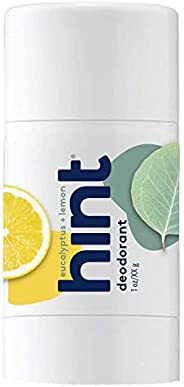 Hint Eucalyptus Lemon Deodorant, Travel Size 1 oz Naturally Scented, Vegan, No Aluminum, No Parabens