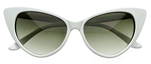WebDeals - Cateye or High Pointed Eyeglasses or Sunglasses Vintage Inspired Fashion…… (Glamour White)