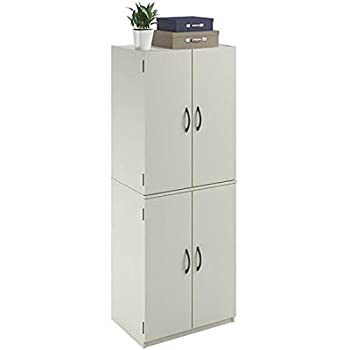 Mainstays Tall Storage Cabinet, 4 Door, White