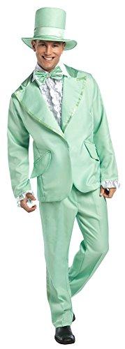 Halloween Costumes Item - 70s Funky Tuxedo Pastel Green Mens Adult Costume (Funky Tuxedo Adult Men Costume)