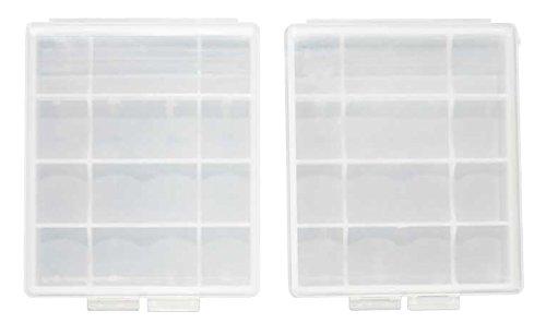 Genuine eneloop AA, AAA Battery Storage Cases, 2 Pack