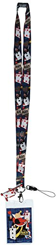Disney Alice in Wonderland Red Queen Lanyard with Soft Dangle & Card Holder