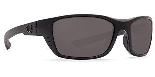 Blackout Frame Gray 580P C-Mate 2.00 Costa Del Mar Costa Del Mar WTP01OGP200 Whitetip Gray 580P C-Mate 2.00 Blackout Frame Whitetip Small-med