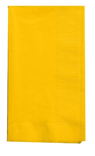 (Creative Converting Touch of Color 100 Count 2-Ply Paper Dinner Napkins, School Bus Yellow)