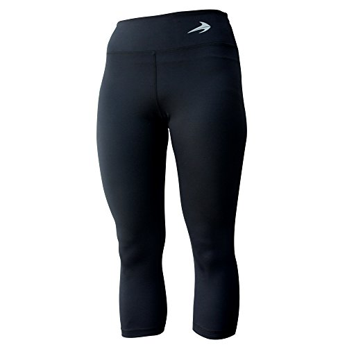 Women's Compression Capri's (Black - XL) - Body Slimming for Yoga, Hidden Pocket, Amazing Workout Pants