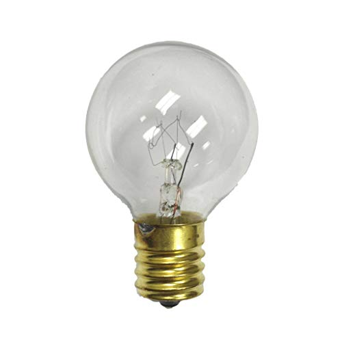 G40 Replacement Globe Light Bulb, E17 Base (Intermediate), Clear, 7 Watts, Pack of 25