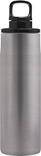 Liberty Venture Double Wall Stainless Steel Water Bottle, 16.5oz, Naked, Dual Combo Cap - Dual Water Combo