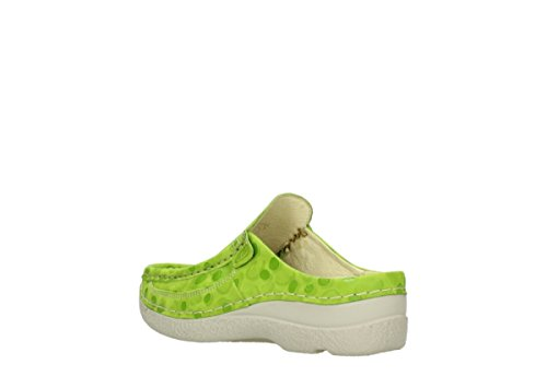 Deslizante 12750 Nubuckleather Rollo Clogs Wolky Comfort Lime qUHpHtw