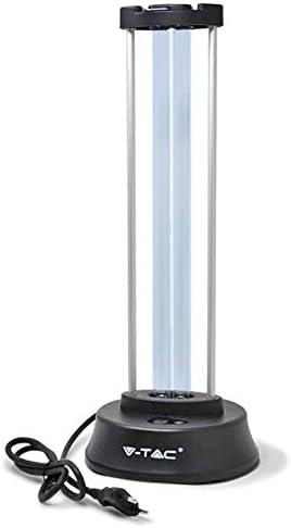 UV-C Keimtötende Lampe mit Ozon für 60m2, 38W, Wellenlängenbereich 200 nm, Touch-Schalter, 10 Sekunden Verzögerung, Bewegungsmelder