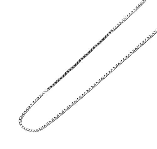 Designer Inspired 2mm Silver Box Chain Necklace Sterling 925 16