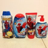 Amazing! Spider-man Bath Set (4 Items) Body Wash, Shampoo, Hand Soap and Hair Gel (4) by Judastice