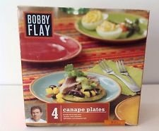 Bobby Flay 4 Canapé Plates - Sol Collection