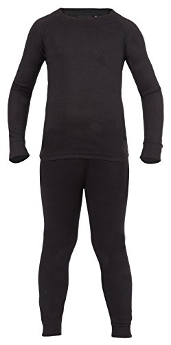 Ultrasport Kinder Thermounterwäsche Set mit Quick-dry Funktion, schwarz, 176, 10265