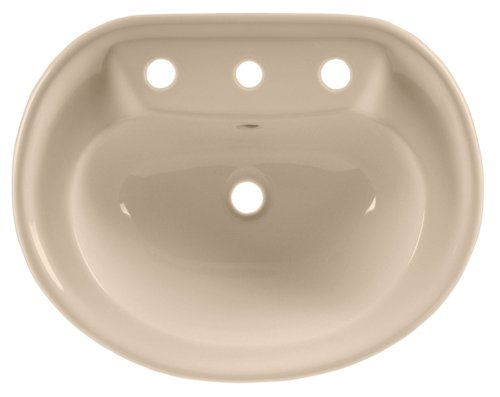 American Standard 0186.803.045 Savona Countertop Sink with 8-Inch Faucet Spacing, Fawn - Beige Sink Fawn Countertop