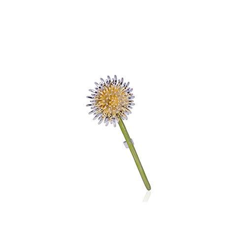 TYS-apparel-accessories Enamel Green Dandelion Flower Brooches for Women Men's Weddings Plants Brooch Lapel Pins Gifts