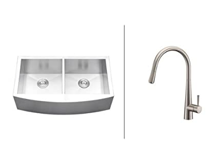 Ruvati Rvc2463 Stainless Steel Kitchen Sink And Stainless Steel