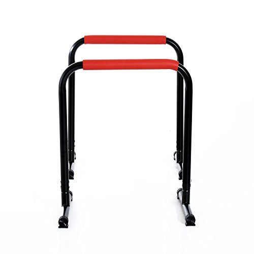 Globe House Products GHP 2-Pcs 264-Lbs Capacity Black Steel & PVC Portable Workout Push Up Stand Handles by Globe House Products
