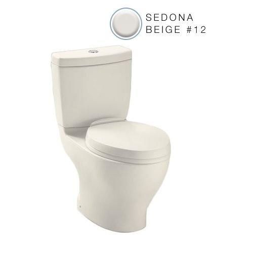 Toto CST412MFNo.12 Aquia Dual Flush Toilet, 1.6-GPF and 0.9-GPF, Sedona Beige