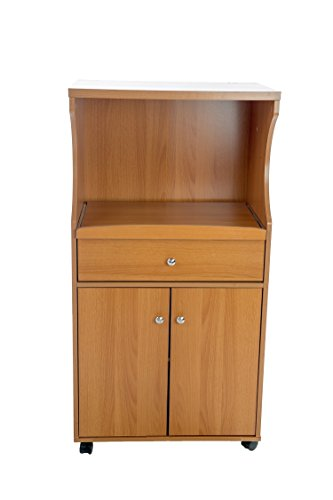 microwave cart cherry wood - 6