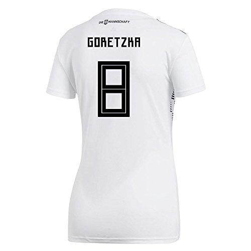 誰粘り強い振り向くadidas Women's GORETZKA # 8 Germany Home Soccer Stadium Jersey World Cup Russia 2018 / サッカーユニフォーム ドイツ ホーム用 ゴレツカ # 8 レディース向け