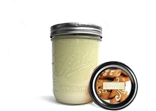 Gingerbread Soy Wax Candles/Mason Jar Candle/Holiday Candles/Handmade Candles/Essential Oil Candles/Big Candles 16 oz