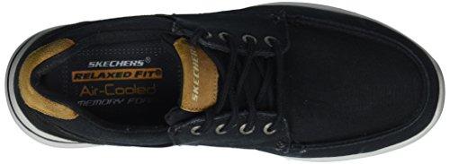 Noir Chaussures Elent Bateau Skechers Arven Homme w6XqnEO