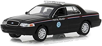 2010 Ford Crown Victoria Police Interceptor United States Postal Service USPS Black Hobby Exclusive 1//64 Diecast Model Car by Greenlight 29971