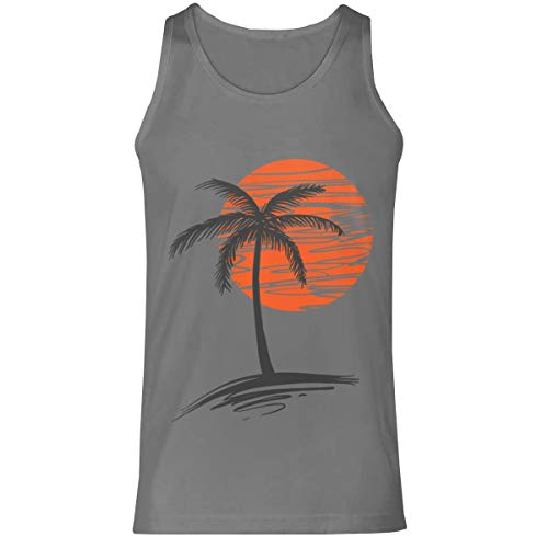 Palm Tree Mens Premium Tanks Tops T-shirt Size M