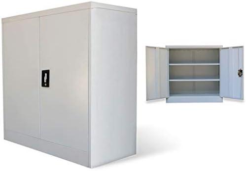 vidaXL Armario Archivador de Oficina con 2 Puertas Metal Acero ...