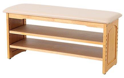 天然木収納付き玄関ベンチ(ガタつき防止付き) 90cm幅 B072ZR7NYK90cm幅