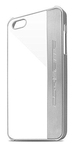 Corvette COHCP5MEWH gebürstetes Aluminium harte Schutzhülle für Apple iPhone 5/5S weiß/silber