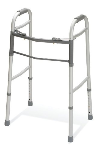 Medline Two-Button Folding Walker without Wheels
