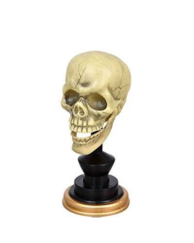 Hinged Stand (Creepy Plastic Skull on Stand Halloween Decor (Hinged)