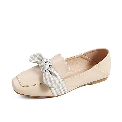 FLYRCX Zapatos Planos Ocasionales Antideslizantes de la Oficina de los Zapatos Planos de Las Mujeres, 37 UE 37 EU