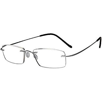 7b382d0f3fa2 LianSan Desginer Women Man Fashion Lightweight Rimless Titanium Reading  Glasses Stylish Simple Readers L8013T Silver +