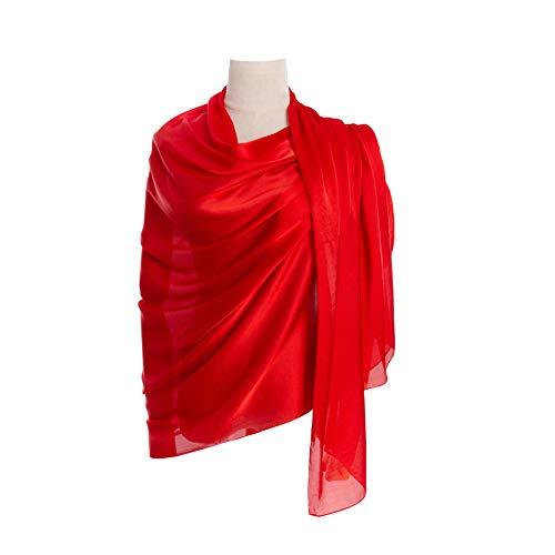Cyzlann Women's Scarves 100% Silk Long Lightweight Scarfs for Women ()