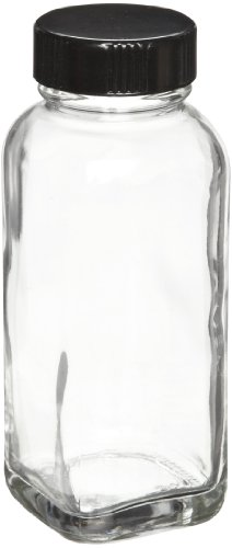 Wheaton W216884 French Square Bottle, Clear Glass, Capaci...