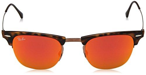 Brown de Shiny para Mirror Marrón 49 Orange Ray Hombre mm Sol Light Lenses Ban Frame RB8056 Gafas Brown qBvt8