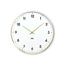 Kvell Klassic Wall Clock Brushed Brass