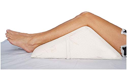 The Angle by Back Support Systems - Guaranteed to Help Reduce Back Pain Immediately. Eco Friendly, Medical Quality Memory Foam Bed Wedge Leg Pillow for Reducing Back Pain, Back Therapy and Sleeping