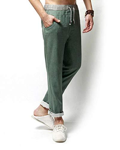 grün De Mezcla Armee Basicas Hombres Lino Cómodos Hechos Los Ocio Pantalones  Playa Largos p7x4wFFq 1aab866f02d5