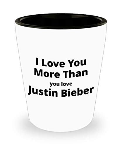 Funny Shot Glass for Justin Bieber Lovers. Great Unique Valentine's Gift for Him or ()