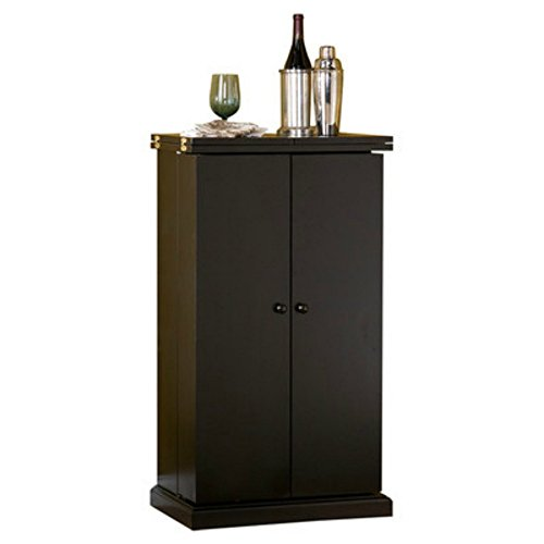 Amazon.com: Stylish Bar Cabinet   Mini Home Liquor Wine Glass Storage  Expandable Furniture: Kitchen U0026 Dining