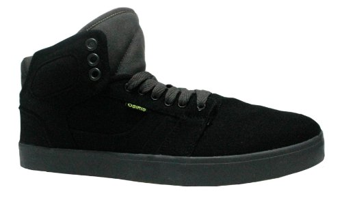 OSIRIS EFFECT SHOES Hi Tops Skate Lifestyle BLACK/GRAY/LIME