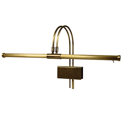 (Cocoweb GPLED22ABD LED Grand Piano Lamp, Antique Brass)