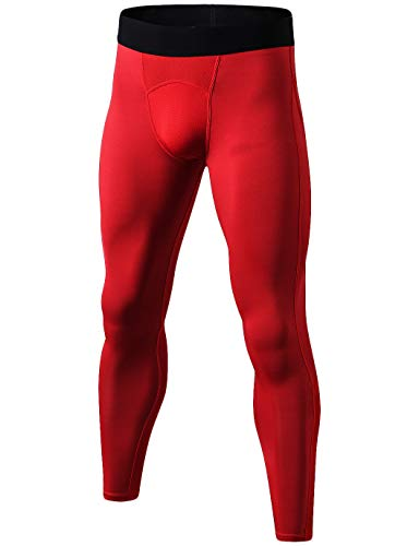 DZRZVD Men's Compression Pants Baselayer Cool Dry Sports Tights Leggings MZ2041
